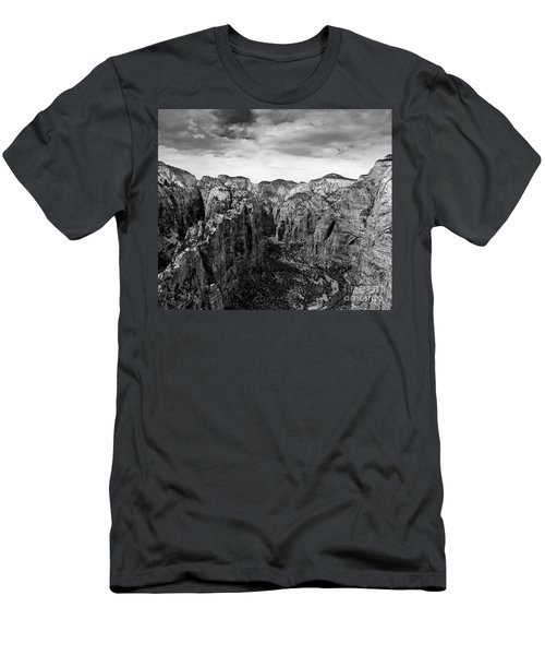 Zion National Park - View From Angels Landing Men's T-Shirt (Athletic Fit)