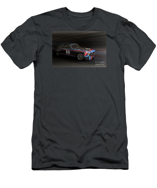 1974  Bmw 3.0 Csl Batmobile Men's T-Shirt (Slim Fit) by Roger Lighterness