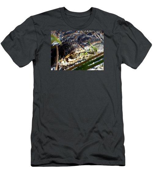 Alligator Eye  Men's T-Shirt (Slim Fit) by Chris Mercer