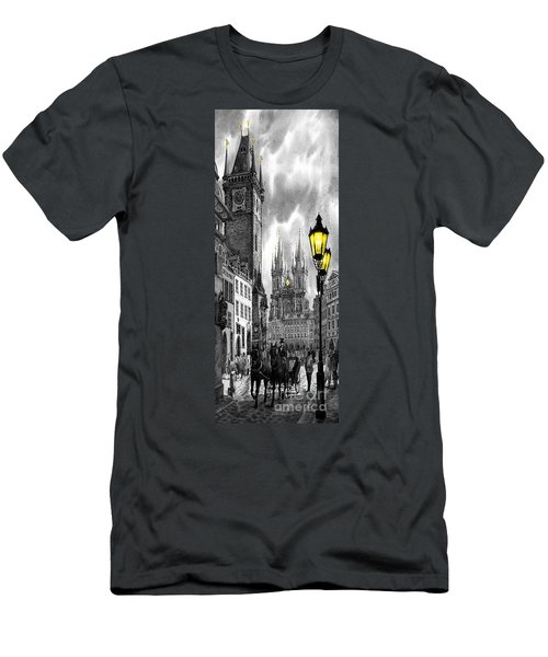 Bw Prague Old Town Squere Men's T-Shirt (Athletic Fit)
