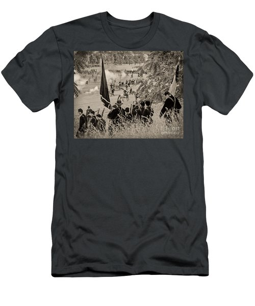 Gettysburg Union Artillery And Infantry 7459s Men's T-Shirt (Athletic Fit)
