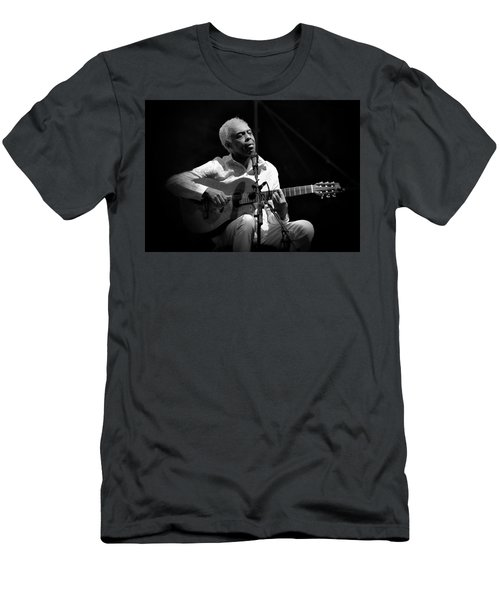 Gilberto Gil   Black And White Men's T-Shirt (Athletic Fit)
