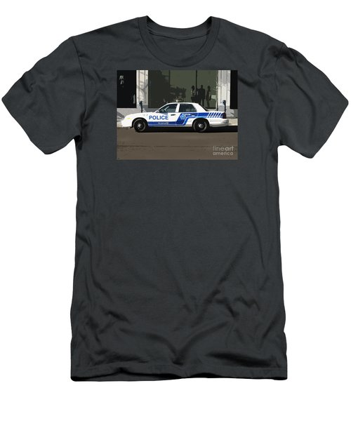Montreal Police Car Poster Art Men's T-Shirt (Athletic Fit)