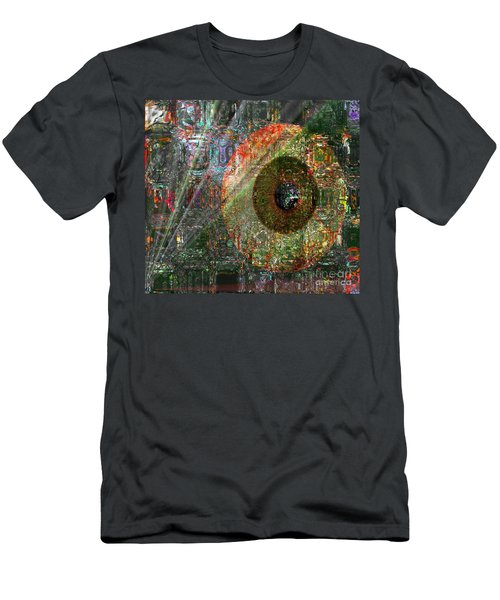Men's T-Shirt (Slim Fit) featuring the digital art  Savior Watching Over Me by Fania Simon