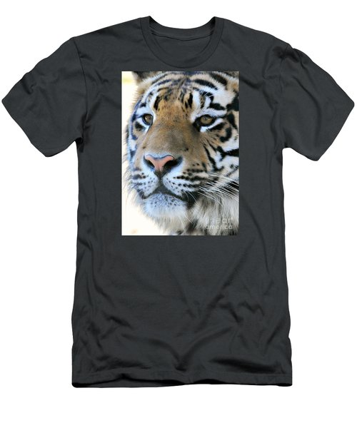 Men's T-Shirt (Slim Fit) featuring the photograph  Tiger Portrait  by Mindy Bench