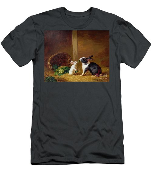 Two Rabbits Men's T-Shirt (Slim Fit) by H Baert