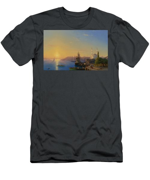 View Of Constantinople And The Bosphorus Men's T-Shirt (Athletic Fit)