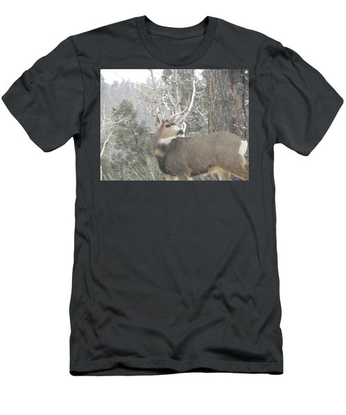 Men's T-Shirt (Athletic Fit) featuring the photograph Buck Front Yard Divide Co by Margarethe Binkley