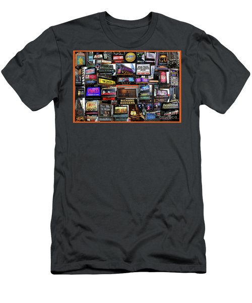 2016 Broadway Fall Collage Men's T-Shirt (Slim Fit) by Steven Spak