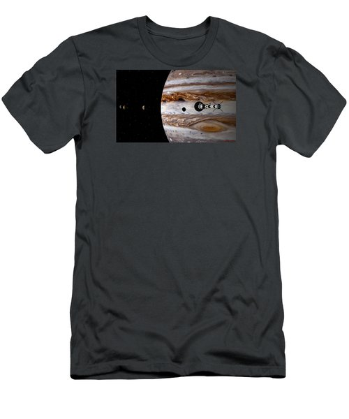 Men's T-Shirt (Slim Fit) featuring the digital art A Sense Of Scale by David Robinson