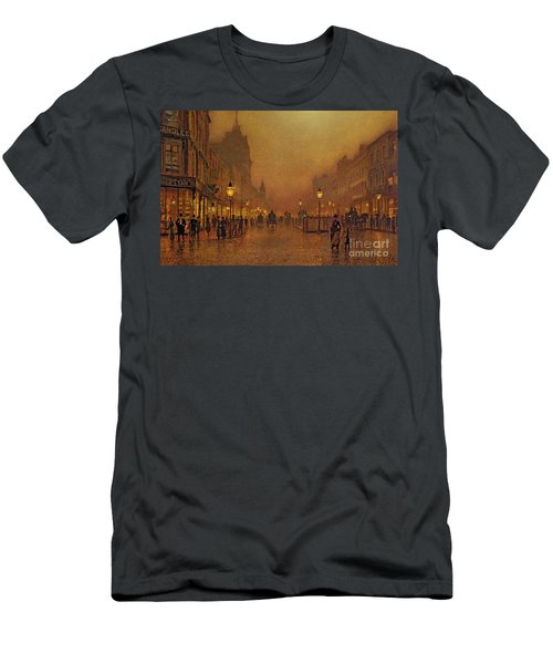 A Street At Night Men's T-Shirt (Athletic Fit)