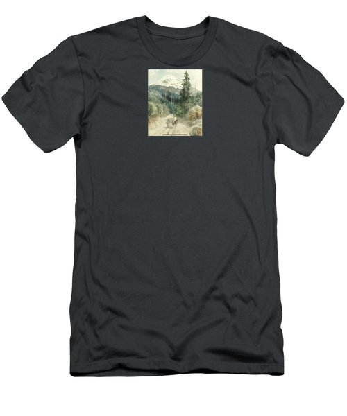 A View Of Popocatepetl Men's T-Shirt (Athletic Fit)