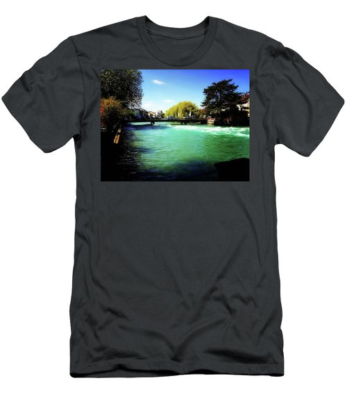 Men's T-Shirt (Slim Fit) featuring the photograph Aare River by Mimulux patricia no No
