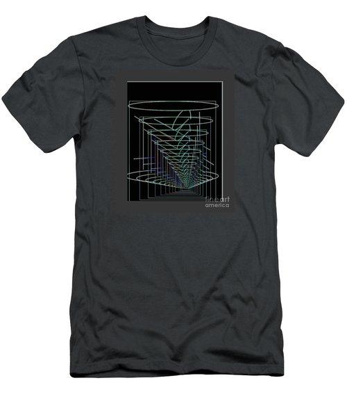 Abstract 13 Men's T-Shirt (Slim Fit) by John Krakora