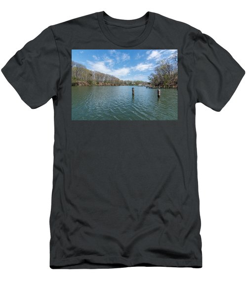 Men's T-Shirt (Athletic Fit) featuring the photograph Weems Creek Annapolis, Md by Charles Kraus