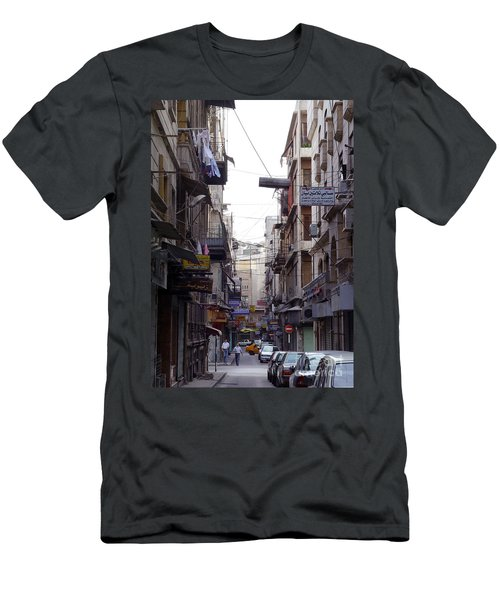 Aleppo Street01 Men's T-Shirt (Slim Fit)