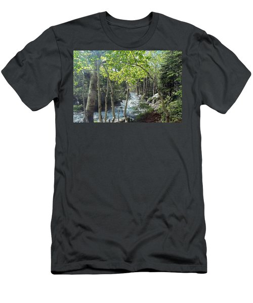 Along Alberta Falls Trail Rocky Mountain National Park Men's T-Shirt (Athletic Fit)