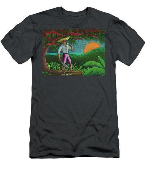 Amanecer En Borinquen Men's T-Shirt (Athletic Fit)