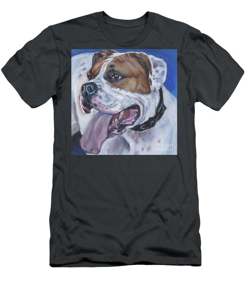 Men's T-Shirt (Slim Fit) featuring the painting American Bulldog by Lee Ann Shepard