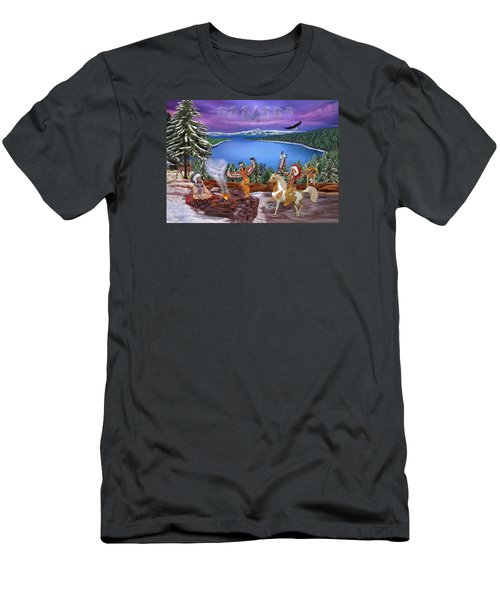 Among The Spirits Men's T-Shirt (Slim Fit) by Glenn Holbrook