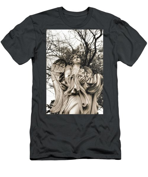 Angel In The Fall Men's T-Shirt (Athletic Fit)