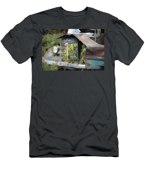 Men's T-Shirt (Slim Fit) featuring the photograph Antique Mack Truck by Charles Harden