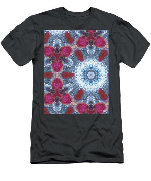 Arctic Blossom Men's T-Shirt (Slim Fit) by Maria Watt