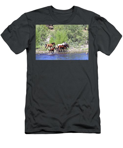 Arizona Wild Horses Men's T-Shirt (Athletic Fit)