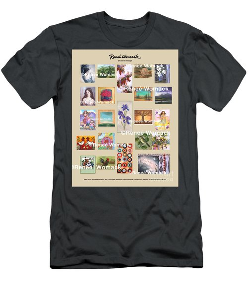 Art Collection Men's T-Shirt (Slim Fit) by Renee Womack