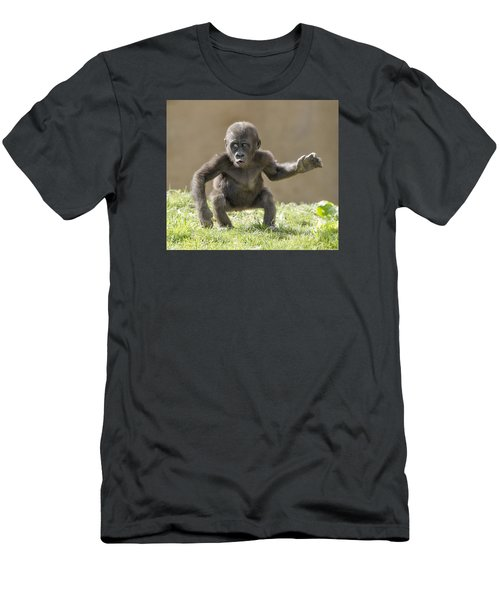Baby Gorilla Men's T-Shirt (Athletic Fit)