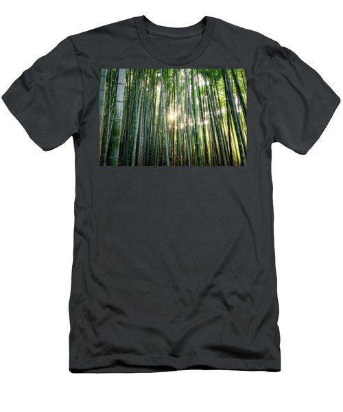Bamboo Forest At Arashiyama Men's T-Shirt (Athletic Fit)