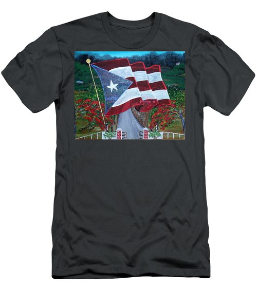 Bandera De Puerto Rico Men's T-Shirt (Athletic Fit)
