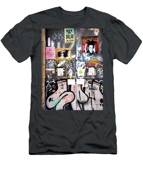 Barcelona Street Art Men's T-Shirt (Athletic Fit)