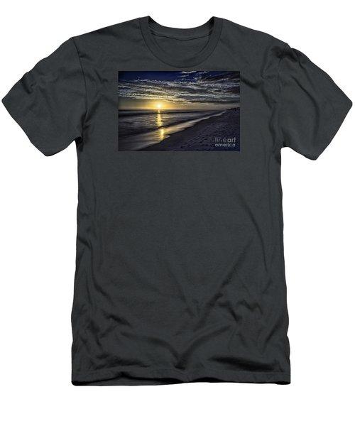 Beach Sunset 1021b Men's T-Shirt (Athletic Fit)