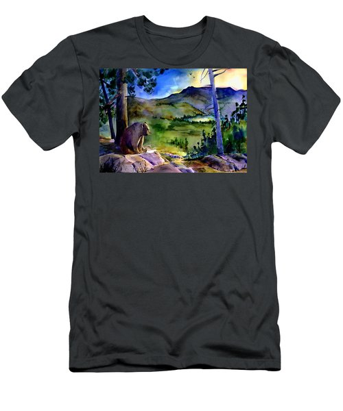 Bearly Light At Castle Peak Men's T-Shirt (Athletic Fit)