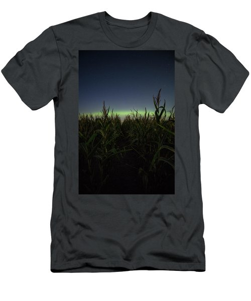 Men's T-Shirt (Athletic Fit) featuring the photograph Behind The Rows by Aaron J Groen