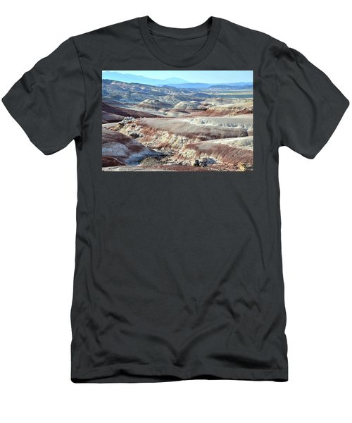 Bentonite Clay Dunes In Cathedral Valley Men's T-Shirt (Slim Fit) by Ray Mathis