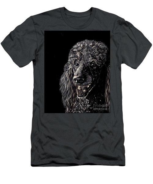 Black Standard Poodle Men's T-Shirt (Athletic Fit)