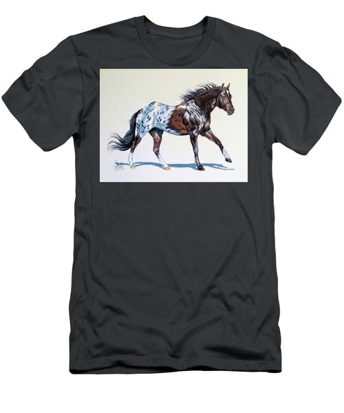 Blanketed Appaloosa Men's T-Shirt (Slim Fit) by Cheryl Poland