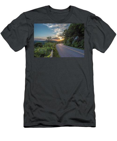 Blue Ridge Parkway Morning Sun Men's T-Shirt (Athletic Fit)