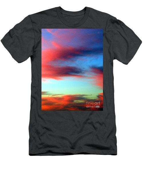 Men's T-Shirt (Slim Fit) featuring the photograph Blushed Sky by Linda Hollis