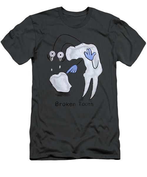 Broken Tooth  Men's T-Shirt (Athletic Fit)