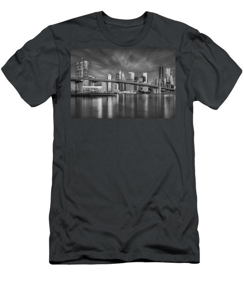 Brooklyn Bridge From Dumbo Men's T-Shirt (Athletic Fit)
