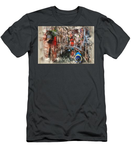 Canal In Venice Men's T-Shirt (Athletic Fit)