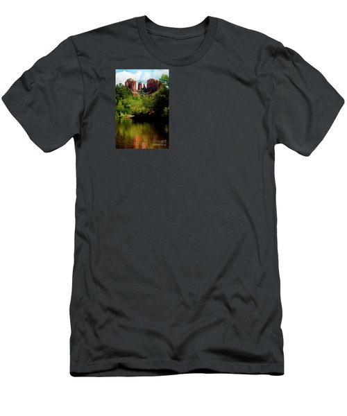 Cathedral Rock Men's T-Shirt (Slim Fit) by Ivete Basso Photography