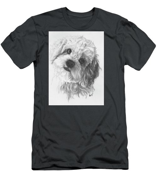 Men's T-Shirt (Athletic Fit) featuring the drawing Cava-chon by Barbara Keith