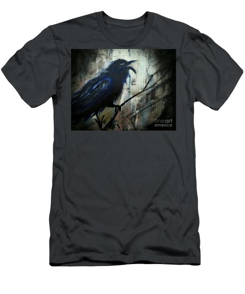 Cawing The Storm Men's T-Shirt (Slim Fit) by Scott D Van Osdol