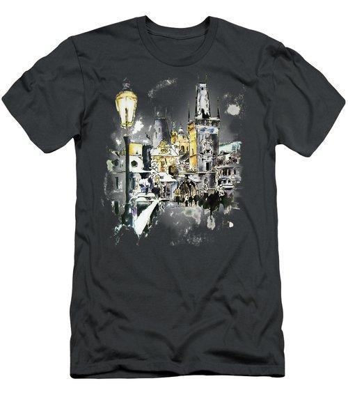 Charles Bridge In Winter Men's T-Shirt (Athletic Fit)