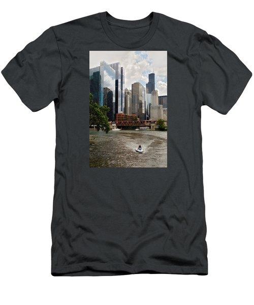 Chicago River Jet Ski Men's T-Shirt (Athletic Fit)