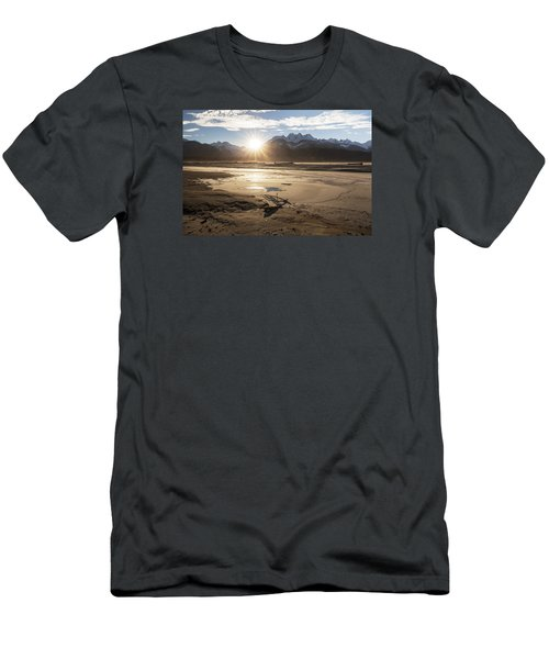 Men's T-Shirt (Slim Fit) featuring the photograph Chilkat River Sunset by Michele Cornelius